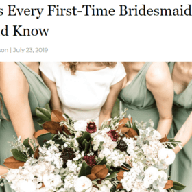 8 Tips Every First-Time Bridesmaid Should Know
