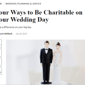 Four Ways to Be Charitable on Your Wedding Day