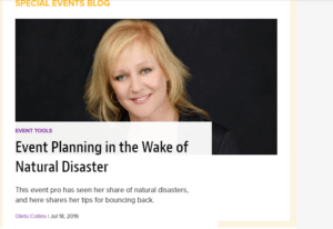 Event Planning in the Wake of Natural Disaster