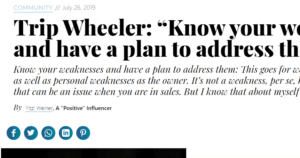 "Trip Wheeler: ""Know your weaknesses and have a plan to address them"""